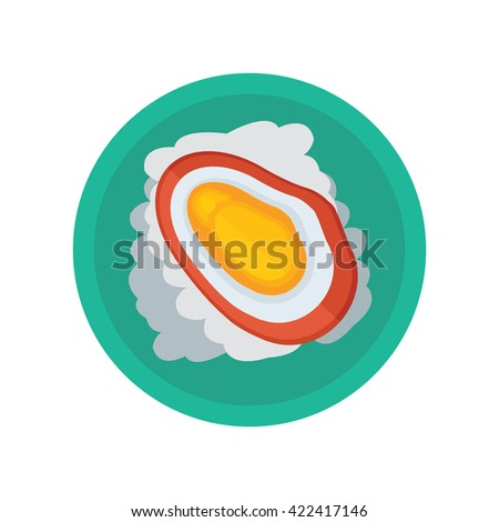 yellow shellfish and salad vector - stock vector