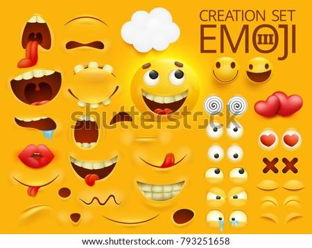 Yellow Smiley Face Emoji Character Your Stockvector Rechtenvrij
