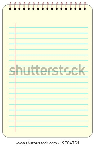 Yellow spiral notebook vector graphics
