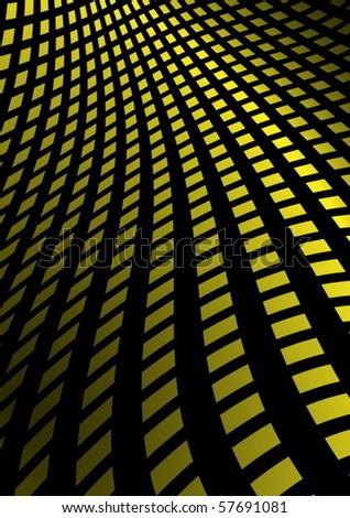 Yellow squared vector slide  illustration - stock vector