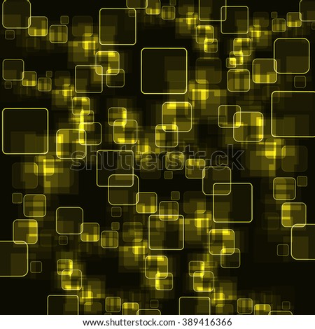Yellow squares background. Vector illustration.