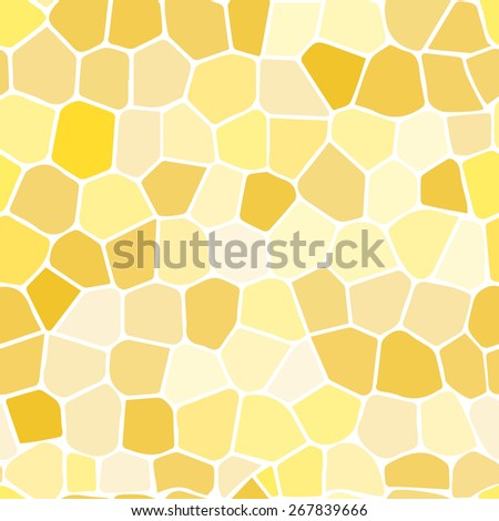 Yellow stained glass Illustration (seamless texture) - stock vector