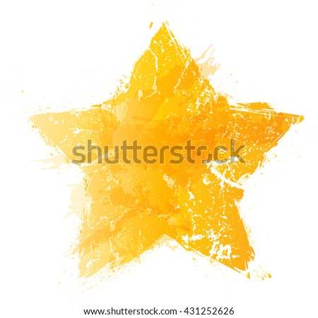 Yellow Star Logo icon. - stock vector