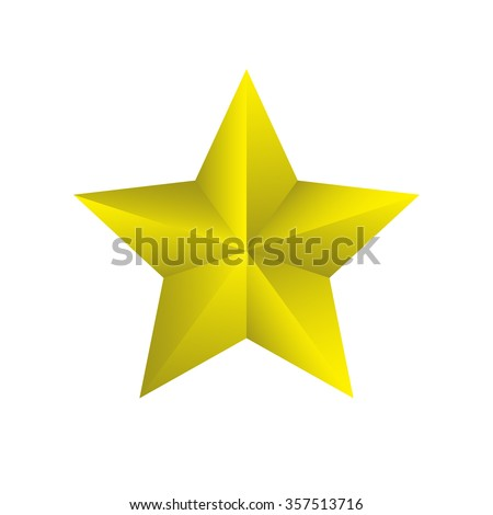 Yellow star on background