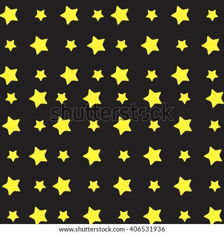 Yellow star pattern. Stars background and stars. Vector flat design illustration - stock vector