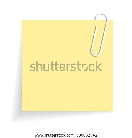 Yellow sticker - stock vector