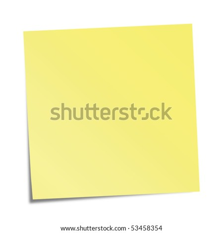 Yellow sticky note - stock vector