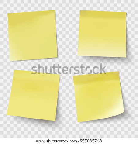 yellow sticky notes vector illustration stock vector 557085718 rh shutterstock com sticky note vector icon sticky note vector illustrator