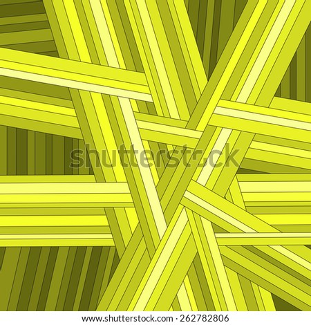 Yellow striped abstract background, vector eps10 illustration - stock vector