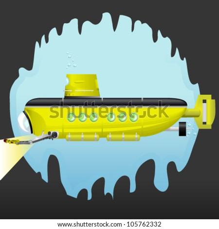 Yellow Submarine - stock vector
