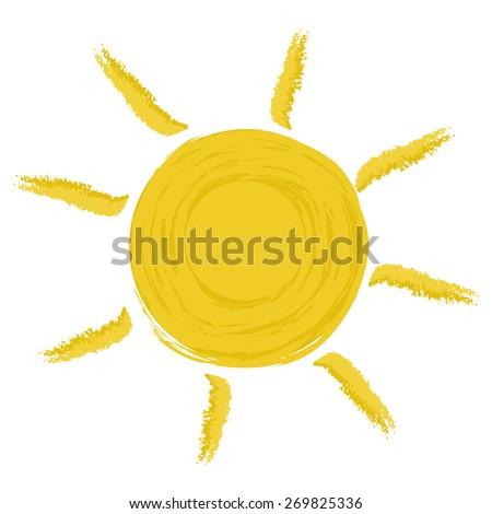Yellow sun - stock vector
