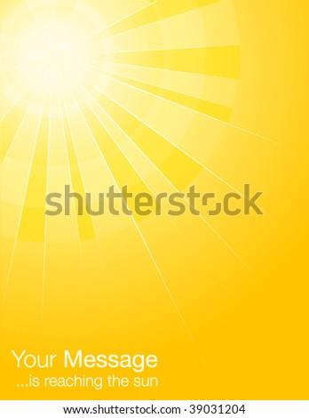 yellow sun rays - stock vector