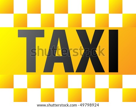 yellow taxi background - stock vector