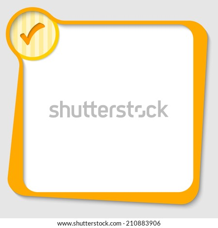 yellow text box for any text with check box - stock vector