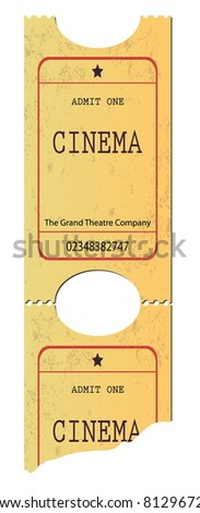 Yellow ticket. Vector illustration. - stock vector