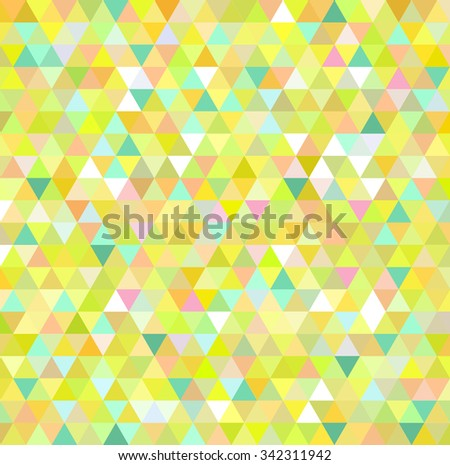 Yellow triangle pattern background - stock vector