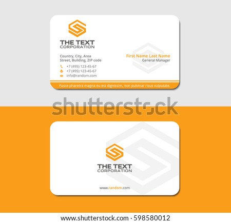 Yellow unique business card letter s stock vector hd royalty free yellow unique business card with letter s thecheapjerseys Gallery