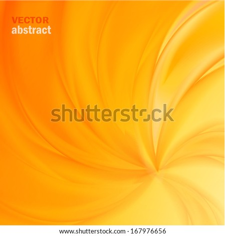 yellow vector abstract background for design - stock vector