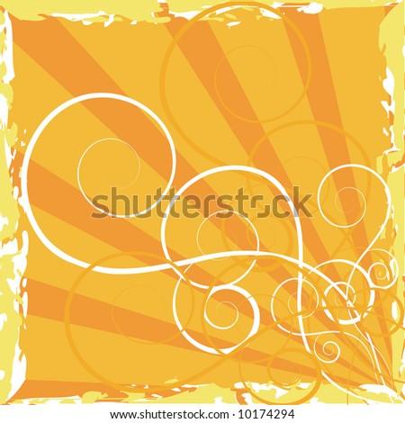 yellow vector wallpaper - stock vector