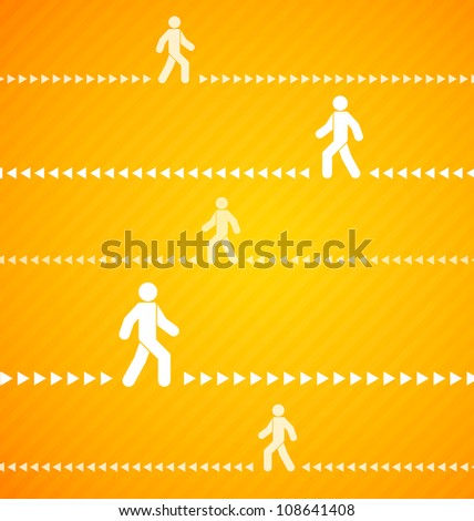Yellow Walk background with stripes