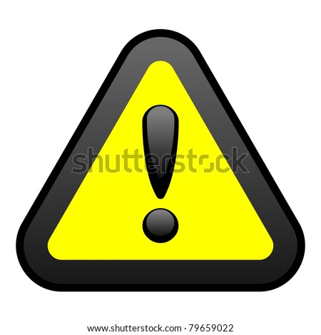 Yellow Warning Sign, Vector - stock vector