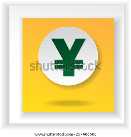 Yen currency japanese money symbol illustration - stock vector