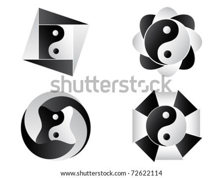 yin and yang - stock vector
