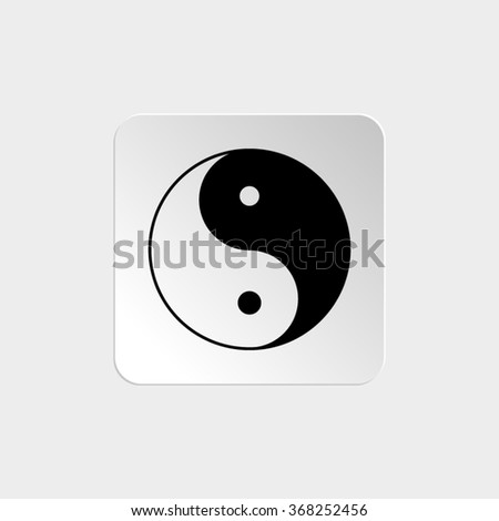 Yin and yang  - black vector icon - stock vector