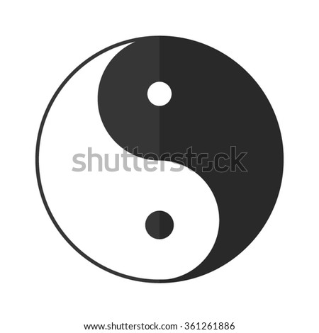 Yin and yang  - vector icon - stock vector