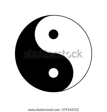 Yin and Yang. Vector Icon. - stock vector