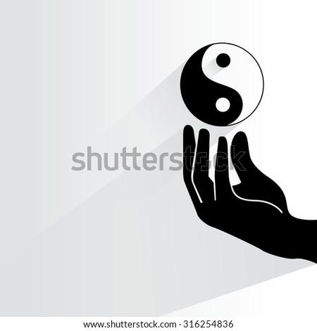 yin yang  - stock vector