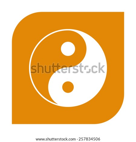 Yin yang symbol of harmony and balance.  - stock vector