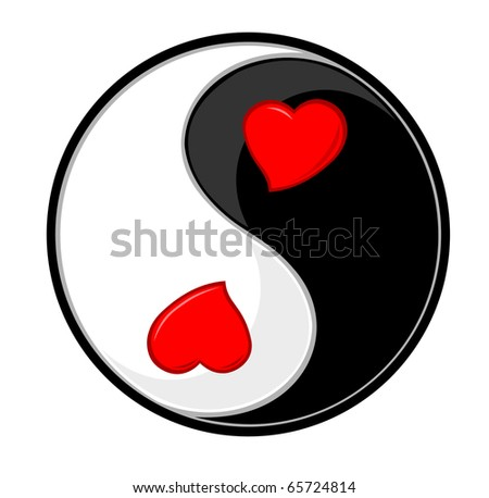 Yin yang symbol of harmony and love