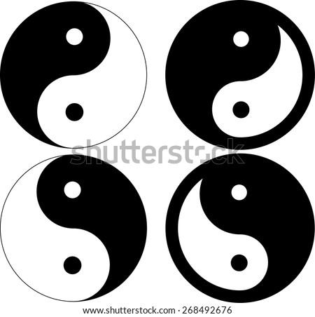 ying-yang symbol. - stock vector