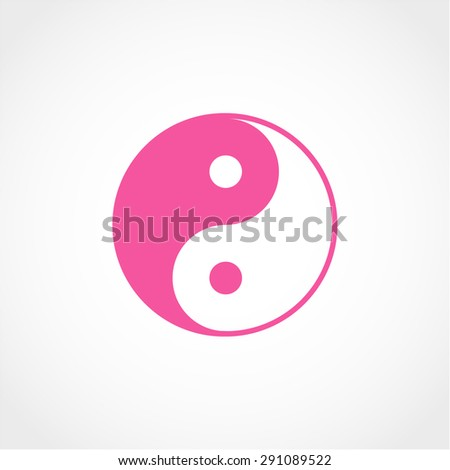 Ying yang symbol Isolated on White Background - stock vector