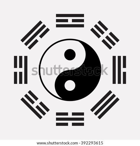 Ying Yang Symbol Harmony Balance Ancient Stock Vector 392293615