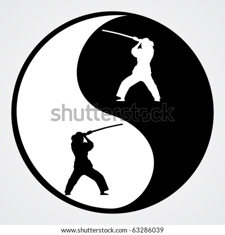 Ying Yang vector illustration - stock vector