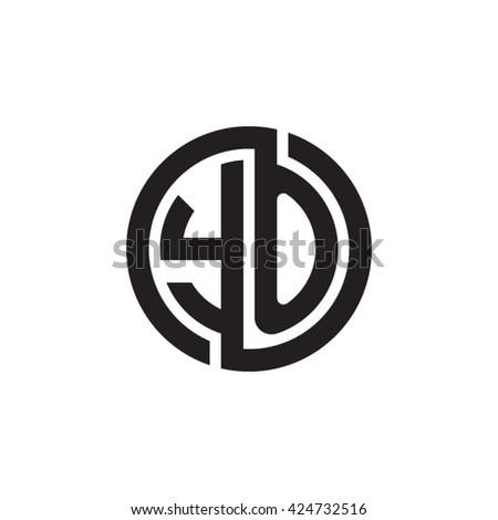 YO initial letters looping linked circle monogram logo - stock vector