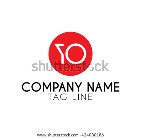 yo logo - stock vector