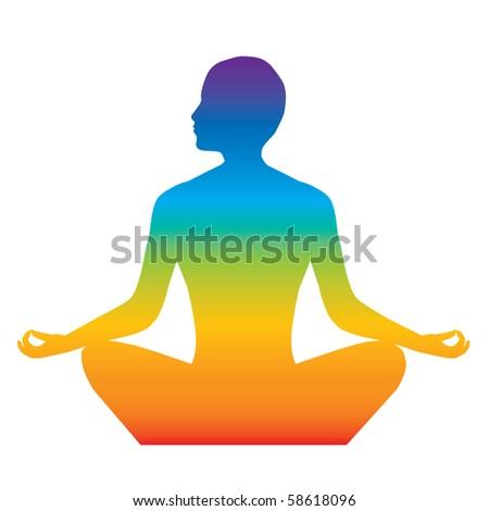 yoga - stock vector