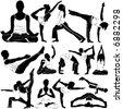 yoga (clothes detail) - stock vector