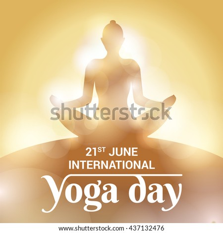 Yoga day illustration - stock vector