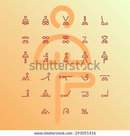 Yoga health - stock vector