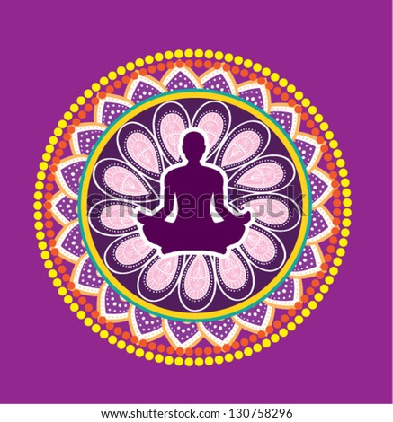 Yoga icon - stock vector