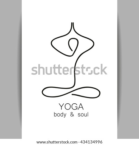 Yoga logo - design template. Health Care, Beauty, Spa, Relax, Meditation, Nirvana concept icon. Graphic design element. Template for yoga center, spa center or yoga studio. Vector illustration.