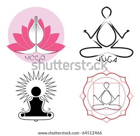 Yoga logo ideas - stock vector