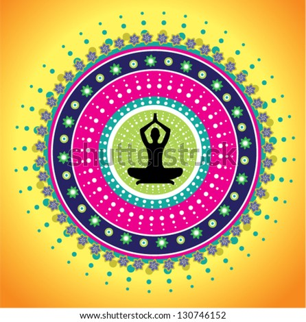 Yoga meditation - stock vector