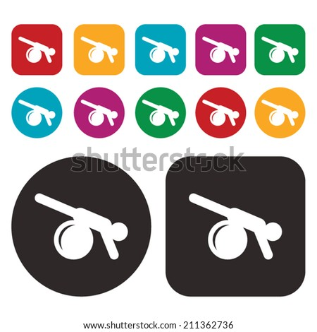 Yoga Meditation Exercise icon - stock vector