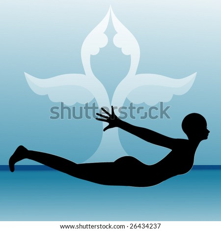 "yoga pose ""Flying Swallow"""