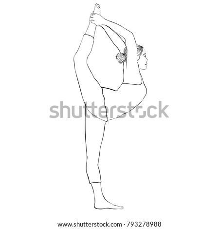 how to draw a girl doing yoga